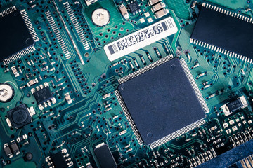 old circuit harddisk board background