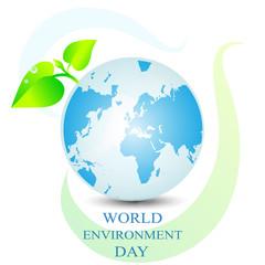 World environment day greeting design stock vector