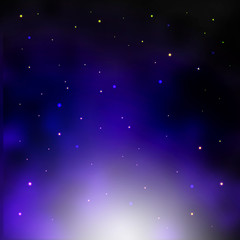 Galaxy background, cluster of stars illustration.