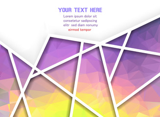 Abstract geometric background with polygons. Info graphics compo
