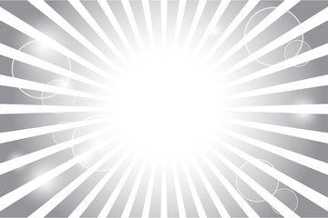 Sunburst with sun flare background; Vector illustration.