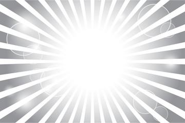 Sunburst with sun flare background; Vector illustration.