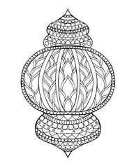 Hand drawn traditional lantern of Ramadan.