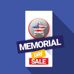 vector memorial day sale banner.
