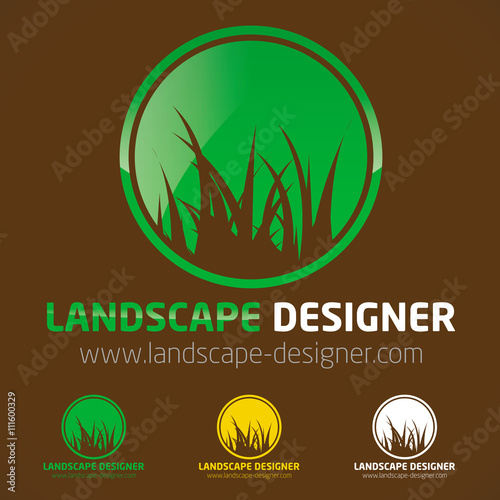 Logo paysagiste gazon pelouse herbe vert fichier for Paysagiste logo