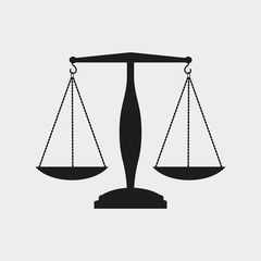 Justice logo.Law and order