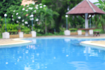 Swimming pool,blurred filter effect
