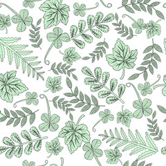 Forest leaves background