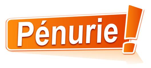 pénurie sur étiquette orange