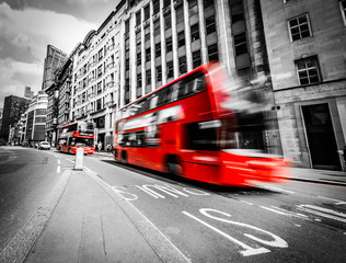 Canvas Prints London red bus Londons traffic