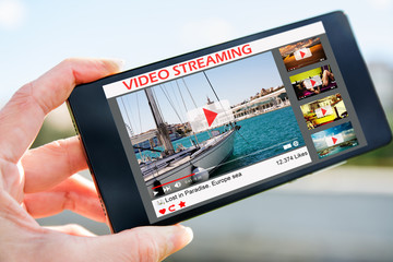 smartphone with video streaming