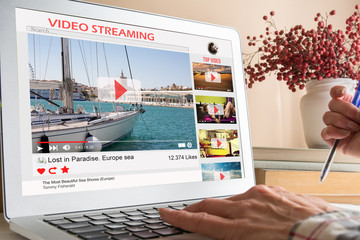Desktop computer streaming video