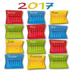2017 CALENDRIER - Post It
