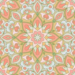 Seamless pattern. Decorative pattern in gentle colors. Vector illustration