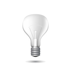 Realistic light bulb vector illustration on white background