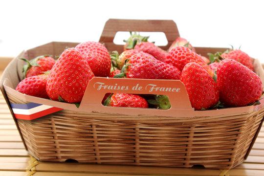jolie barquette de fraises