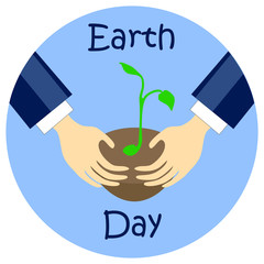 Earth day flat style vector illustration