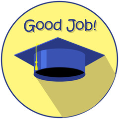 Good job graduation day vector illustration