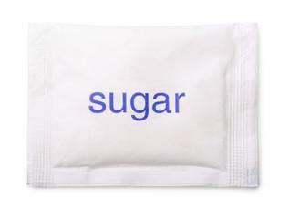 Top view of paper sugar bag