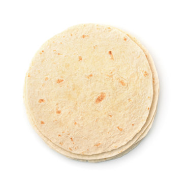 Top view of wheat flat bread