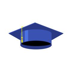 Graduation cap isolated vector illustration