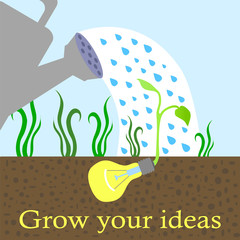 Innovative idea growing concept vector illustration
