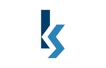 letter KS logo
