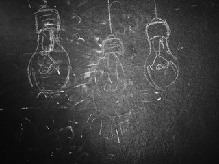 Lightbulb on a Blackboard