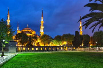 Sultanahmet Mosque with lawn