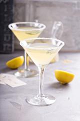 Lemonade martini with rosemary