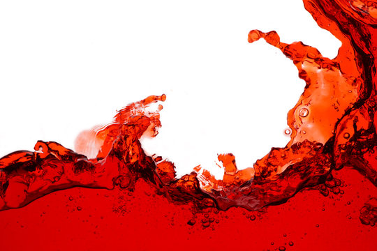 Red wine splash - close up abstract background