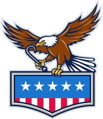 American Eagle Towing J Hook USA Flag Retro