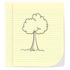 Tree Doodle Illustration