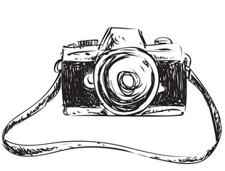 Camera Doodle Illustration