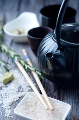 Chinese black teapot