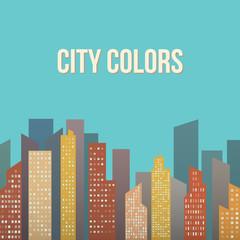 Vector Design - Colorful Building City