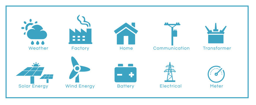 Set of energy / environment related icons