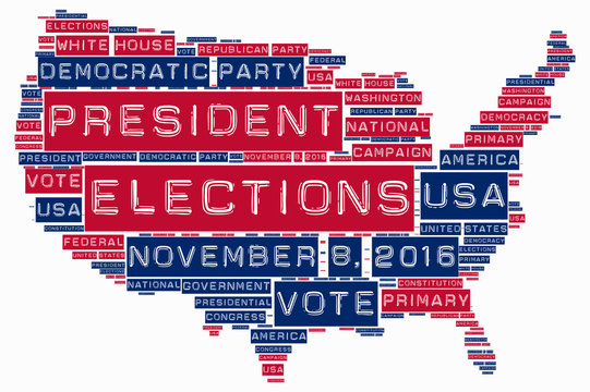 United States of America elections 2016 word cloud