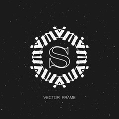 art-deco vector frame
