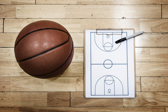 Basketball Playbook Game Plan Sport Strategy Concepts