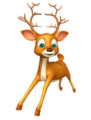 cute Deer funny cartoon character