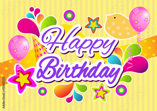 happy birthday banner happy birthday greeting card stock image