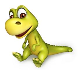 cute funny Dinosaur cartoon character