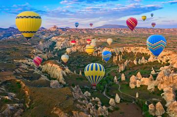 Hot air balloons in Cappadocia, Turkey Wall mural