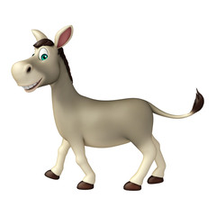cute  Donkey funny cartoon character
