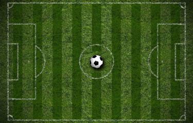 Spielfeld mit Fußball