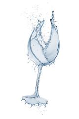 Fototapete - water glass splashing