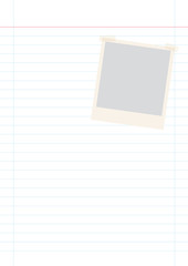 lined paper with photo frame