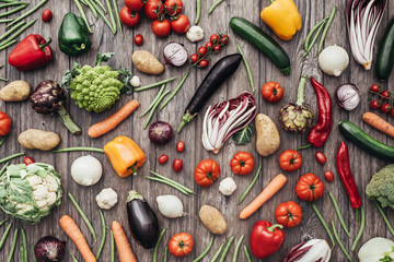 Keuken foto achterwand Groenten Vegetables colorful background