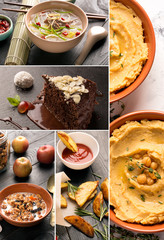 Natural food. Photo collage